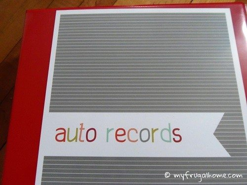 How to Organize Auto Records