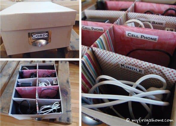 Cord Organizer Box