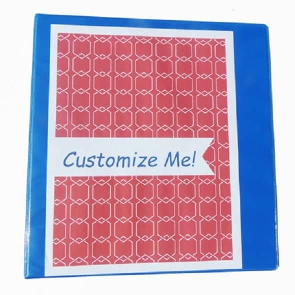 Customize Your Own Binders