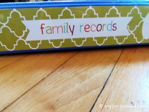 Family Records Spine
