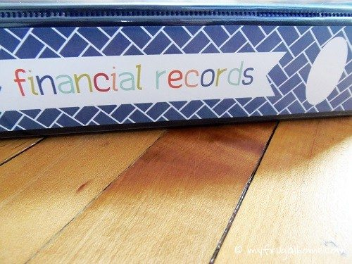 Financial Records Binder