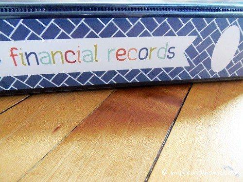 Financial Records Binder