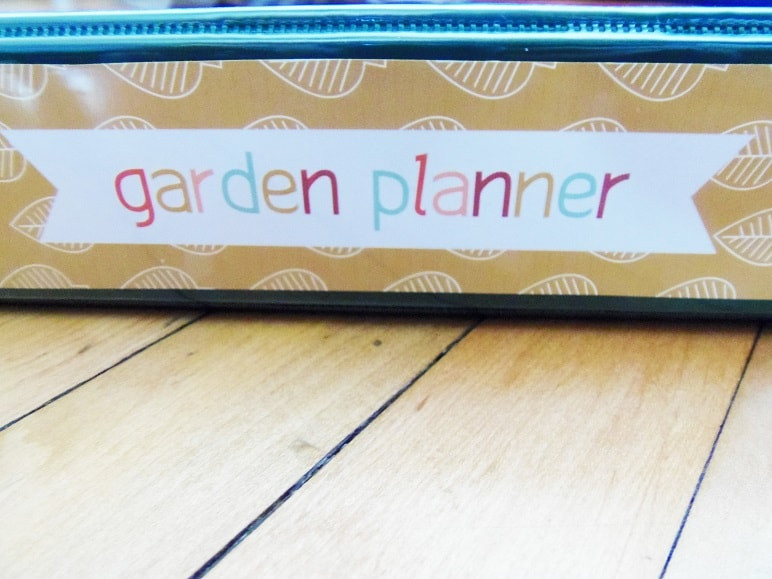 Spine of Printable Garden Planner