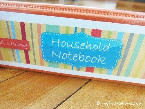 Printable Household Notebook