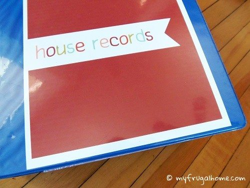 How to Organize House Records