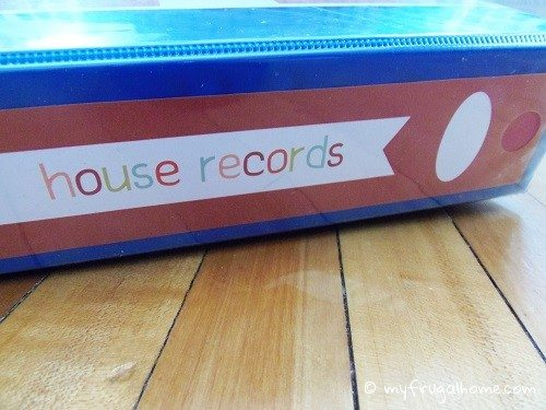 House Records Binder Spine