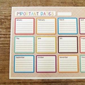 Important Dates Calendar