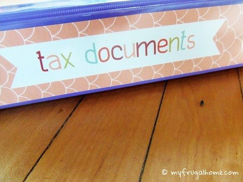 Tax Documents Binder