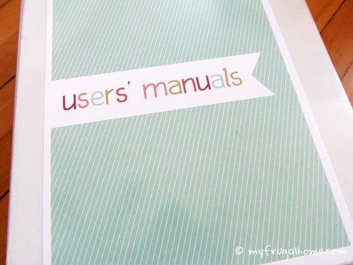 How to Organize Users Manuals