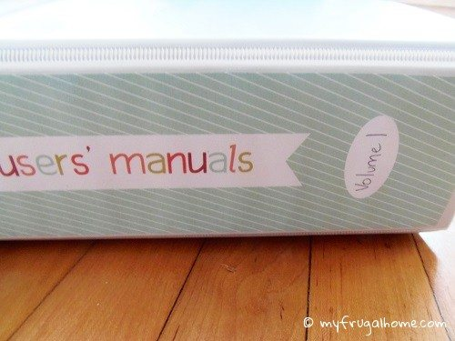 Users' Manuals Binder Printable