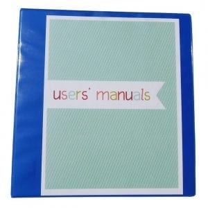 How to Organize User's Manuals