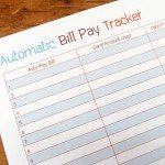Auto Bill Pay Tracker Printable