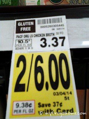 Broth Price Tag