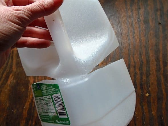 Cut Milk Jugs Open