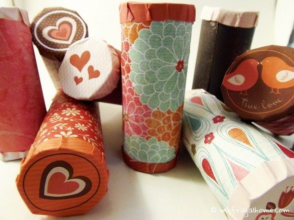 Finished Toilet Paper Roll Valentines