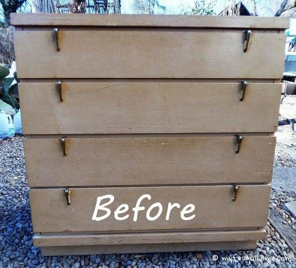 Flea Market Dresser Redo - Before