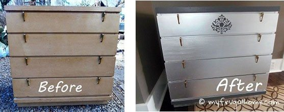 Flea Market Dresser Redo - Before and After