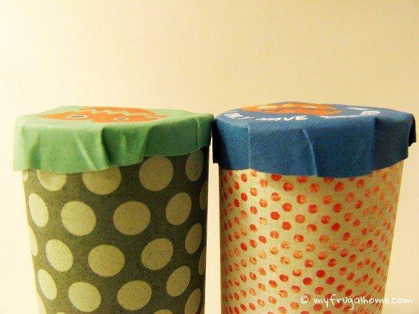 Glue a Cap on Each Toilet Paper Roll