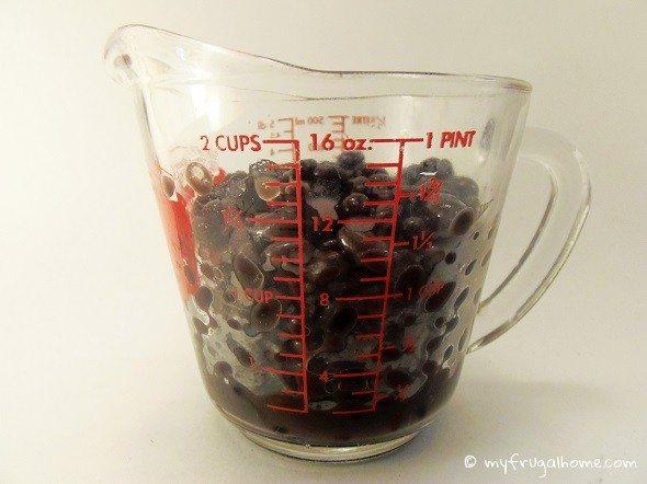 Measured Black Beans