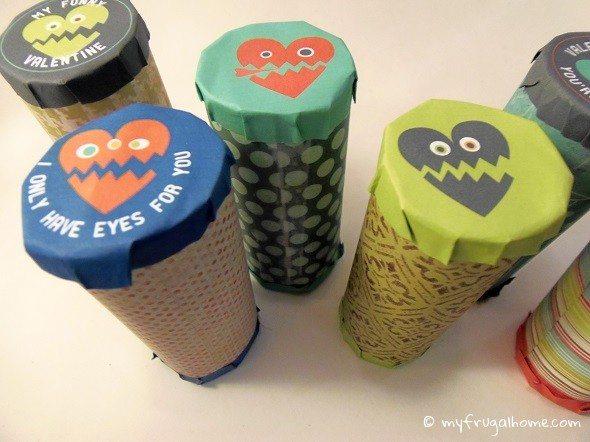 Monster Toilet Paper Roll Valentines