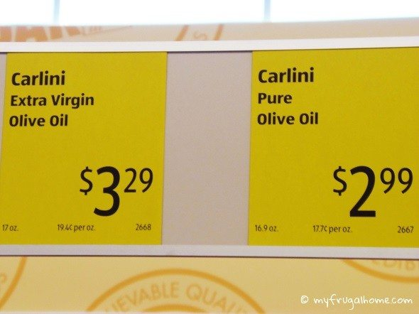 Olive Oil Price Tag