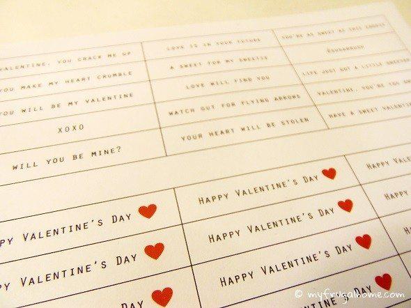 Printable Valentine's Day Fortunes