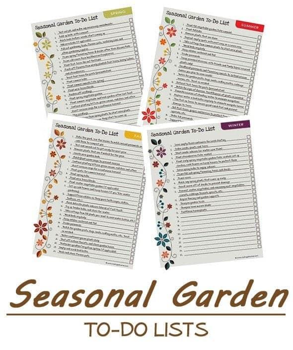 Seasonal Garden To-Do Lists