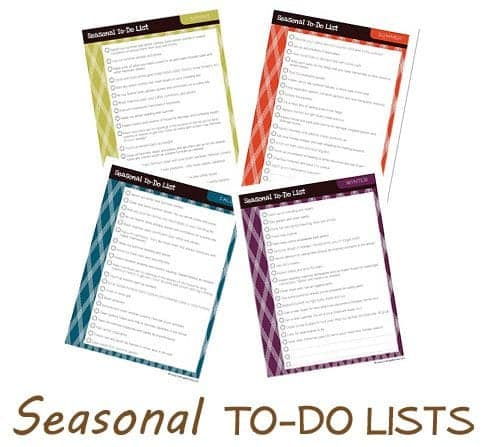 Seasonal To-Do Lists
