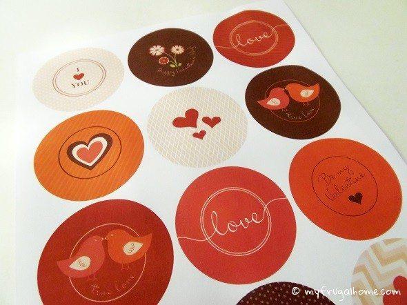 Toilet Paper Roll Valentines Red/Pink/Brown Printable