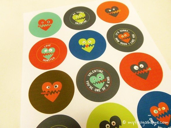 Toilet Paper Roll Valentine's Monster Printable