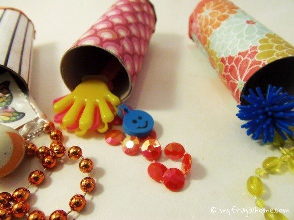 Toilet Paper Roll Valentine Stuffed with Toys