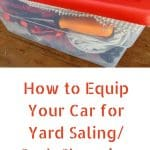 What to Keep in Your Car for Yard Saling/Curb Shopping
