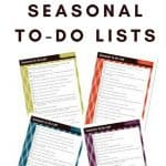Seasonal To-Do List Printables