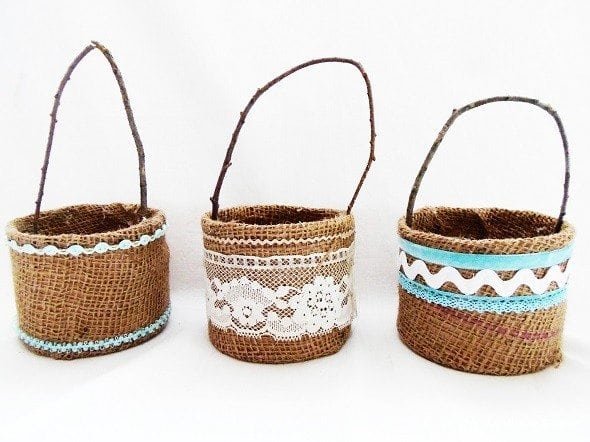 Burlap Easter Baskets