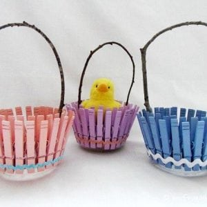 Clothespin Easter Baskets