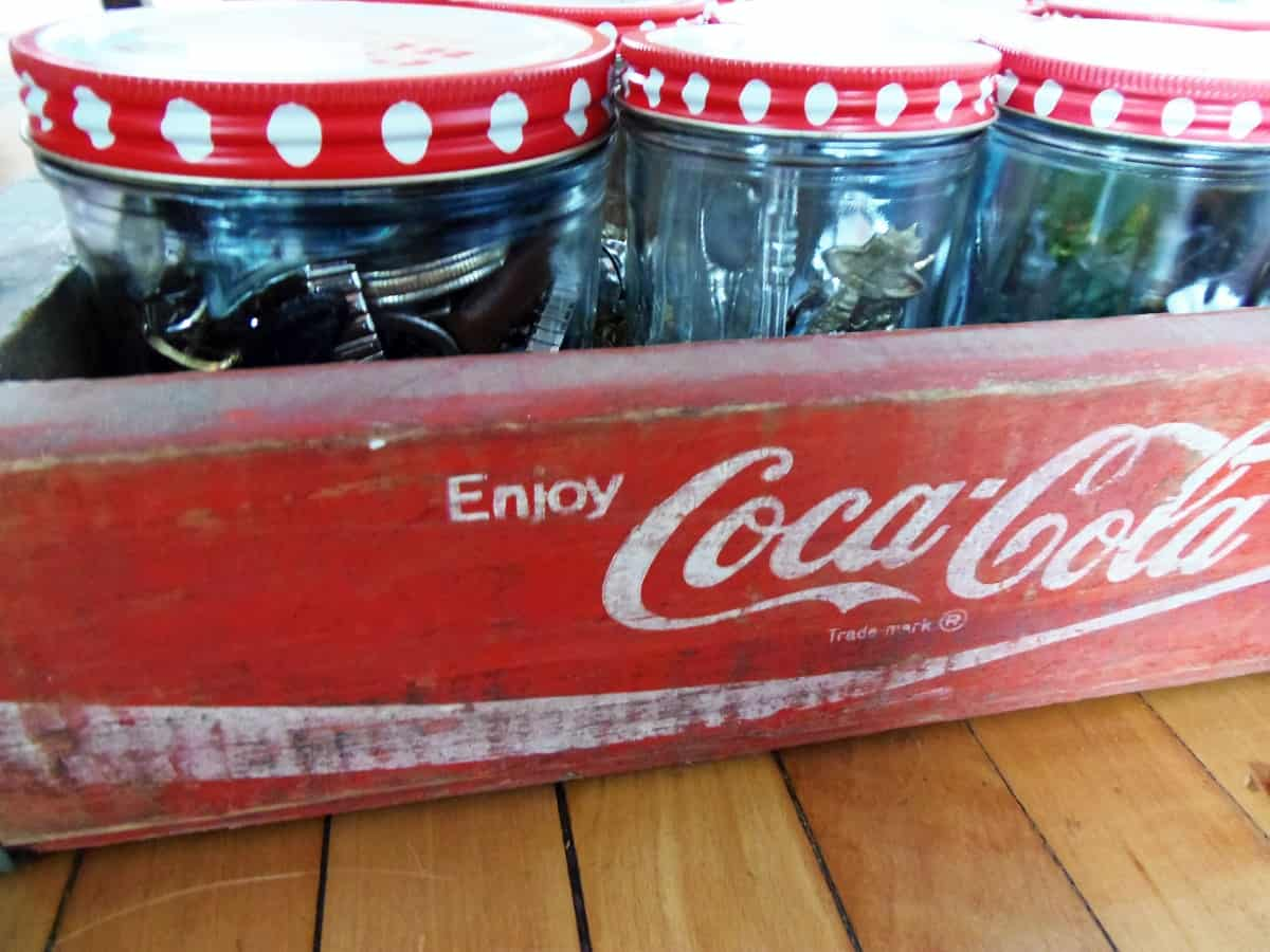 Coke Crate Used as Organizer