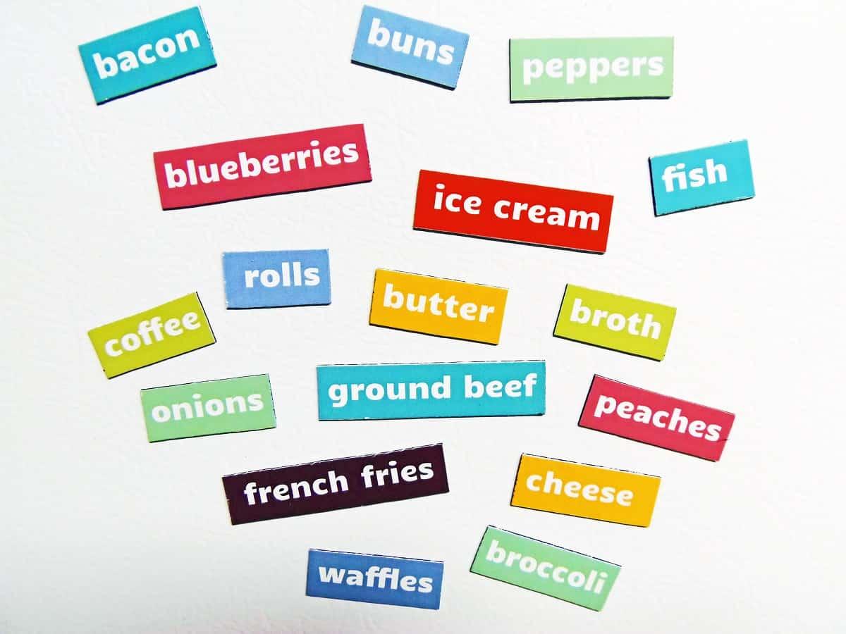 Freezer Find-It Magnets Closeup