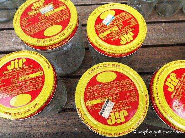 Jif Peanut Butter Jars