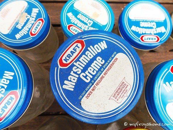 Marshmallow Fluff Jars