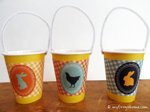 Paper Cup Easter Baskets - with Printables