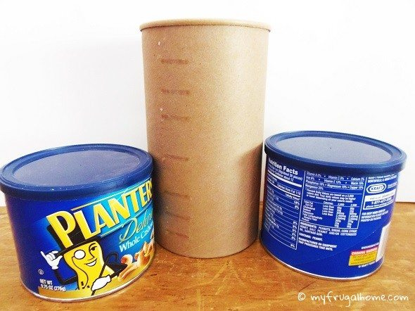Peanut and Oatmeal Containers