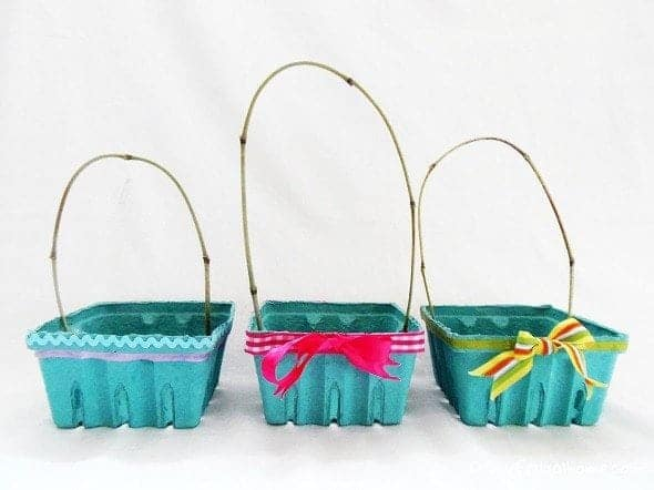 Strawberry Box Easter Baskets