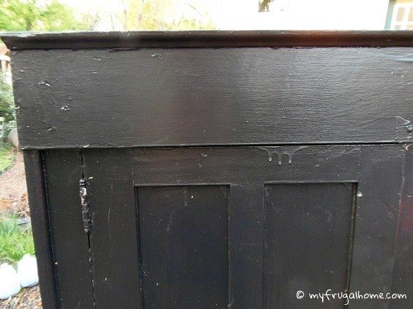 Antique Cupboard - Corner Closeup