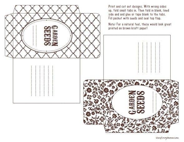 Brown Seed Party Envelopes