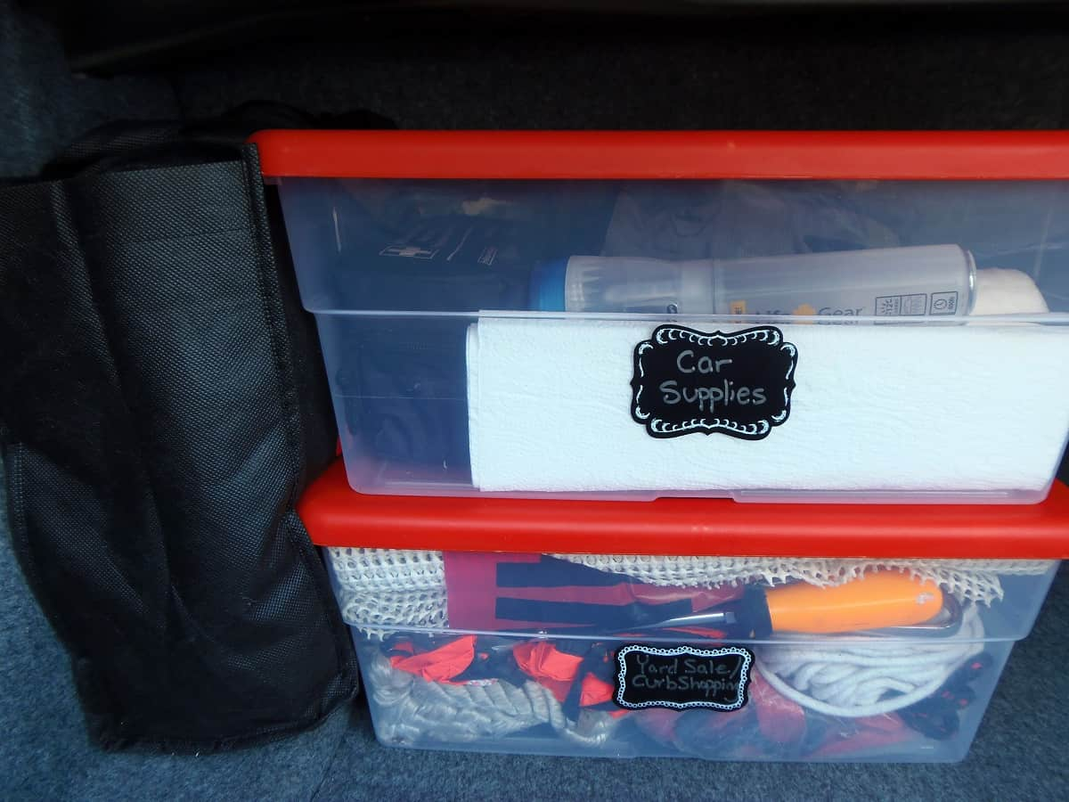 How to Organize Your Trunk