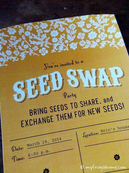 Seed Swap Invitations