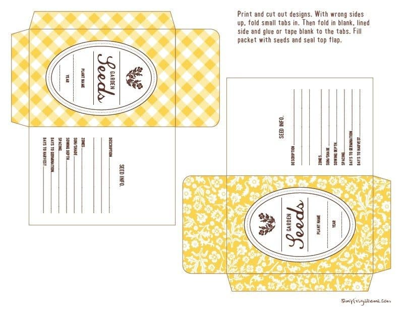 Yellow Seed Party Envelopes