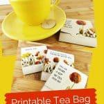 Printable Tea Bag Wrappers