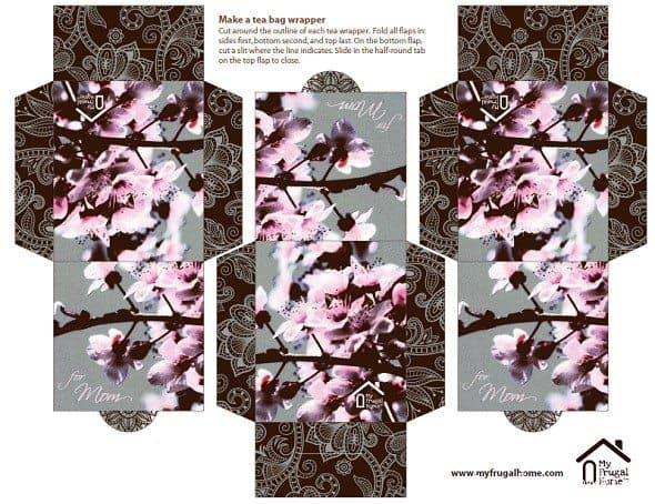 Mother's Day Tea Bag Wrapper Printable