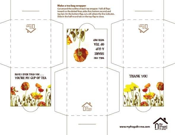 Poppy Tea Bag Wrappers Printable